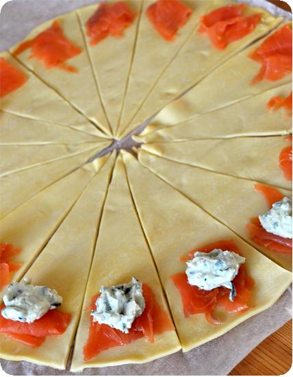Comment préparer des Croissants feuilletés au saumon pour l'apéro etapes