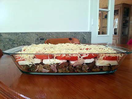 Gratin aubergines, tomates, mozzarella