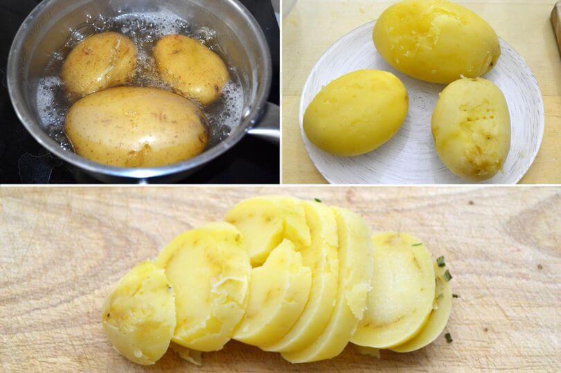 Comment faire une salade de pomme de terre allemande etape 2