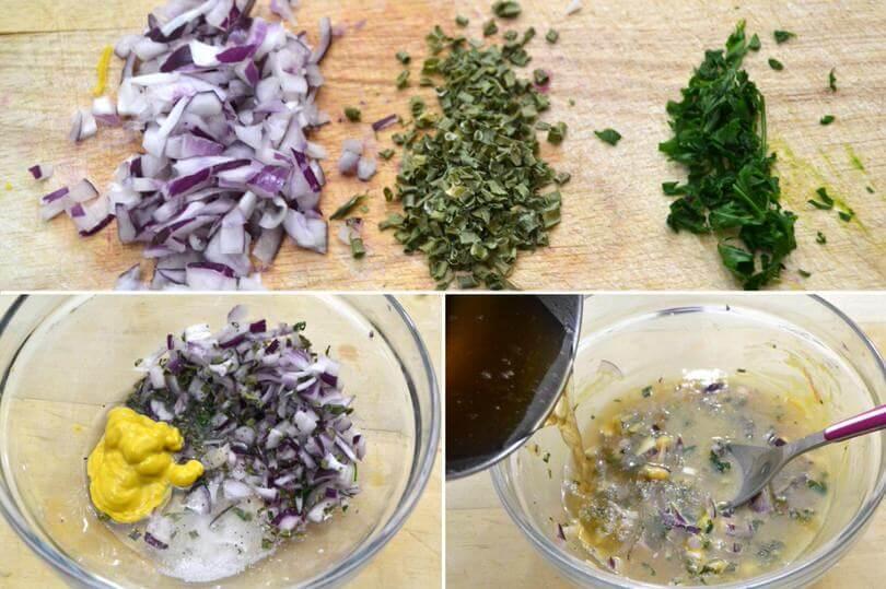 Comment faire une salade de pomme de terre allemande etape 3