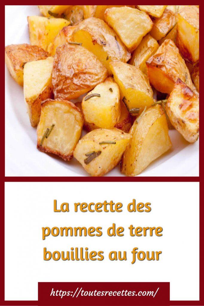 Comment préparer les pommes de terre bouillies au four